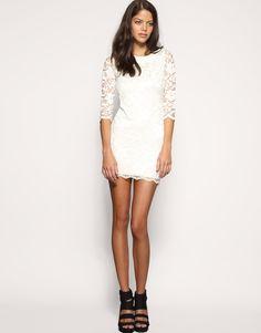 ASOS Petite | ASOS PETITE Exclusive Lace Backless Dress at ASOS