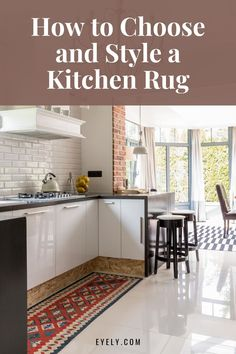 Are you thinking about adding a rug to your kitchen? Are you wondering how you should style a kitchen rug? Adding a rug to your kitchen is a great idea. It can brighten up a space. A rug can add more texture and color to your kitchen. If you're adding a rug to your kitchen, be sure to use this guide to help you out.