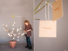 Create a simple and beautiful Thankful Tree With Free Printable Tags