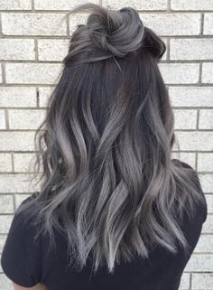 Brown Silver ombre
