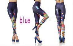2014 Tetris Leggings Womens Print Leggings Yoga by CherryAIO, $10.99
