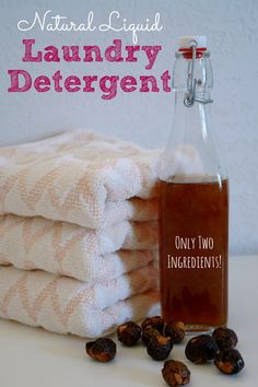 Homemade natural laundry detergent using only 2 ingredients! It's even safe for HE washers and cloth diapers.