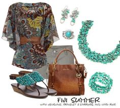 Summer fun with Premier Designs jewelry! Fiji necklace ($59), bracelet ($34), and earrings ($25), and Cabo ring ($36)