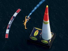 Australian pilot Matt Hall flies his MXS-R aircraft through the course during the qualifying race at the Red Bull Air Race World Championship in Rovinj, Croatia.  Antonio Bronic, REUTERS