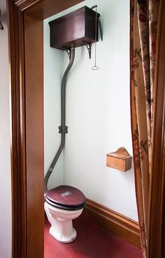 pull-chain toilet Used to scare me....pull it and run