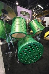 Rock Custom Drums green monster kit