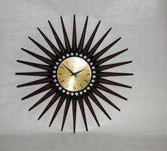 MCM Starburst Clock by Syroco by LOFT65 on Etsy