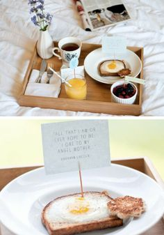 Breakfast in bed tips and ideas for Mother's Day.