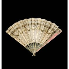 A faberge gold and enamel fan