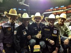 Look at all these guys! Luke Snyder, Brendon Clark, Chase Outlaw, Douglas Duncan, and Reese Cates all behind the chutes at PBR Louisville KY this weekend. Brendon C tweeted this pic. Link to pic: https://twitter.com/brendonclark/status/323524319638605825/photo/1