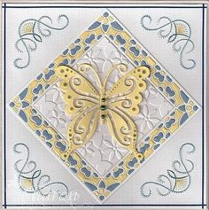Anns' Paper Art stitchingpattern a653 combined  with Marianne Design CR1205 + Joy! Crafts 6002/0313