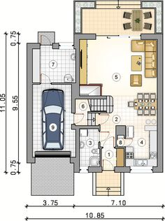 Villa, Floor Plans, House, How To Plan, Architecture, Sims, Two Story Houses, Plants, Arquitetura