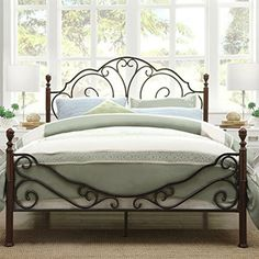 Tribecca Homes LeAnn Bronze Iron Bed Frame