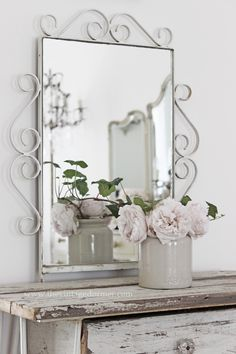 Love this Simple Update To A Beautiful Shabby Chic Bedroom by Using Repurposed furniture and Spray Paint!