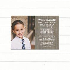 LDS Baptism Invitation Printable CUSTOM LDS Baptism by sophieandlu