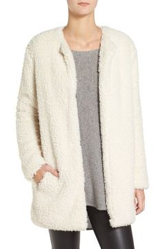 Free shipping and returns on BB Dakota Merrill Faux Fur Jacket at Nordstrom.com. Fuzzy faux fur adds cozy warmth and touchable texture to this softly structured coat with a minimalist silhouette.
