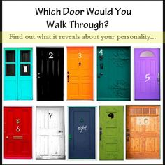 Personality Test - Which Door Would YOU Open? (fun personality quiz to learn about yourself) - Clever DIY Ideas Infp, Personality Quizzes, Psychology Facts Personality Types, Fun Quizzes, Describe Me, You Choose, Mbti, Pretty Cool, Fun Facts