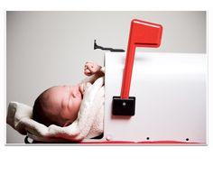 Baby announcement mailbox