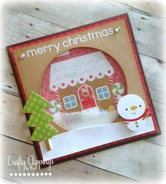 Handmade Christmas Card Gingerbread Card by CraftyClippingsbyPeg