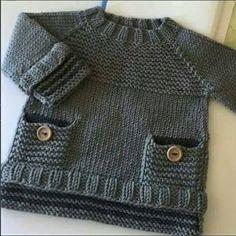 Baby Knitting Patterns Funny … v … Baby Knitting Patterns, Crochet Baby Dress Pattern, Baby Sweater Patterns, Knit Baby Sweaters, Baby Dress Patterns, Knitting For Kids, Crochet Patterns, Knitted Baby, Free Knitting