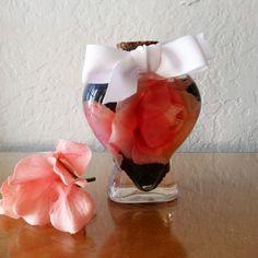 Unique Heart Shaped Bouquet in a Bottle Embellishment, Bathroom Decor, Bathroom Shelf Decor, Bathroom Decor Ideas, Bathroom Decor Stores