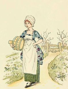 Little maid, little maid - Mother Goose or The Old Nursery Rhymes, 1881- Kate Greenaway