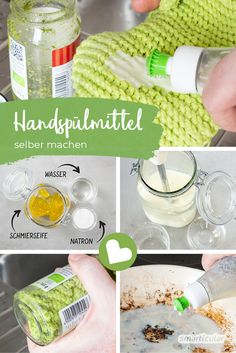 Make detergent yourself against greasy and crusty residue on pots . Make detergent yourself against greasy and crusty residues on pots, plates and p Casseroles, Picture Logo, Milk Cans, Vegetable Drinks, Healthy Eating Tips, Housekeeping, Baking Soda, Home Improvement, Alcohol