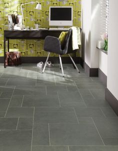 This welsh slate, inspired by slates from the Oakley Quarry in Wales, is both intriguing and distinctive in design with tonal greys, greens and an understated hint of petroleum green.