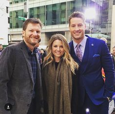 Dale Jr., Amy & Justin Hartley on the Today Show, Feb. 21, 2017