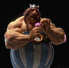 Obelix by Gabriel Soares on ArtStation Zbrush, Gabriel, Asterix E Obelix, Albert Uderzo, Character Art, Character Design, Realistic Cartoons, Creation Art, Beautiful Girlfriend