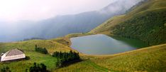 Lacul Vulturilor (Romanian for Eagles' Lake) - Siriu, Buzau Country.   The lake is also known as the Bottomless Lake (Lacul fara fund), although its depth does not exceed 2.5 meters.