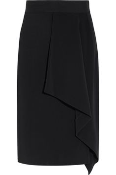Roland Mouret | Eaton draped crepe pencil skirt  | NET-A-PORTER.COM £504.17