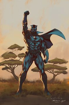 Black Panther fan art Lines - Guille Sharp Colours - Harrison Yinfaowei Marvel Comics, Marvel Dc, Comics Anime, Marvel Heroes, Storm Marvel, Black Panther Comic, Black Panther King, Marvel Comic Character, Marvel Characters