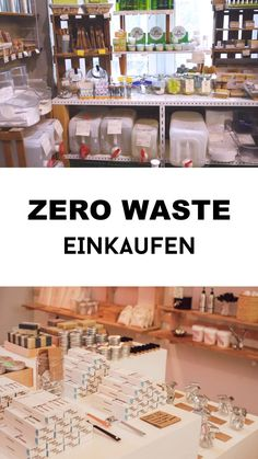 Zero waste shopping & life Zero waste shopping and living – the best tips, various topics and tips to live plastic-free! No Waste, Waste Zero, Bulk Store, Save Mother Earth, Save Environment, Supermarket Design, Clean Life, Pop Up Shops, Shop Interiors