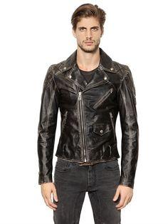 BELSTAFF ARLINGHAM WASHED LEATHER BIKER JACKET, BLACK. #belstaff #cloth #leather jackets