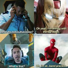 Spiderman and Iron man memes There more alike than you think