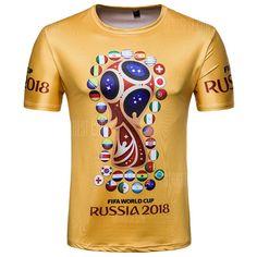0b60d86e7 Fan Commemorative Men s Short-Sleeved T-Shirts. Boys Dress ShirtsFifa World  ...