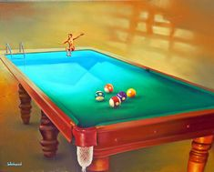"""Pool"" - art by Jim Warren Jim Warren, Godard Art, Pool Paint, Surreal Artwork, Magic Realism, Artwork Images, Unusual Art, Desktop Pictures, Art Archive"