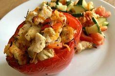 Gefüllte Paprika mit Hähnchen 3