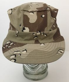38cc5e58b7704 Chocolate Chip Camo Patrol Cap Desert Battle Dress 90 s Military Hat Large  USA Battle Dress