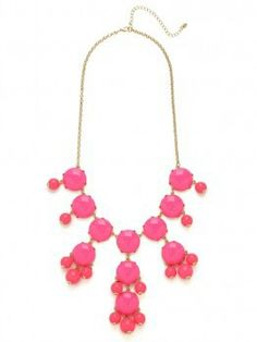 ♥ pink bauble necklace