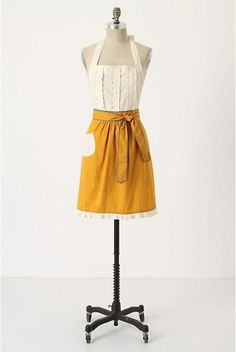 Tea-and-Crumpets Apron by Anthropologie.  I can't seem to find anywhere, but love this mustard color and want!
