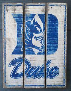 Duke Blue Devils Vintage looking Pallet by Hotshotpalletworks.etsy.com