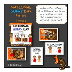 National Sorry Day teaching resource - a collection of posters to use in the classroom. Aboriginal History, Aboriginal Culture, National Sorry Day, Teaching Resources, Teaching Ideas, Naidoc Week, Cultural Crafts, Author Studies, Australian Curriculum