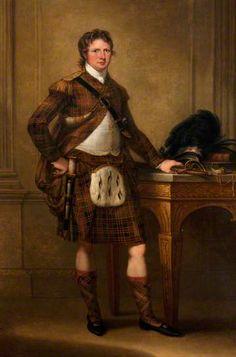 Alasdair Ranaldson MacDonell (1771–1828), 15th Chief of Glengarry c,1790, by Angelica Kauffmann