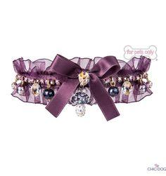 Fairy Tale Collar designed by For Pets Only - purple #dogcollar with #Swarovski, fantasy model for elegant ladies   #collare viola con #Swarovski, modello fantasy per cagnoline eleganti