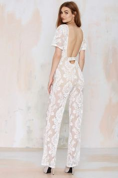 2a62b8f5bde6fa One and Only Lace Jumpsuit