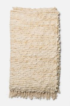 Canaan Throw Blanket in Cream by House of Morrison