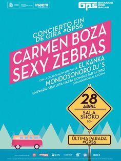 Concierto Fin de Gira GPS Carmen Boza   Sexy Zebras   El Kanka   Mondosonoro Djs en Madrid #girandoporsalas #GPS2016