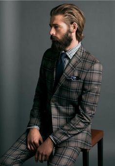 Gentleman styles feature the scalloped front, the EZ-On mesh or monofilament top. Dapper Gentleman, Gentleman Style, English Gentleman, Dapper Man, Mens Fashion Suits, Mens Suits, Fashion Fashion, Fashion Trends, Beard Suit